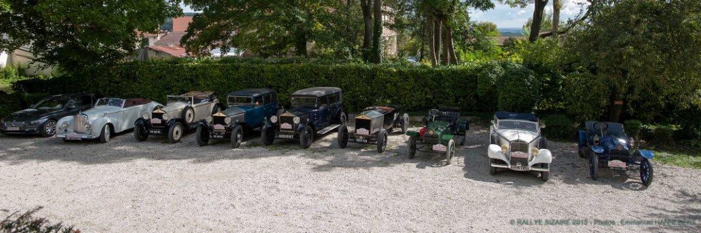 Les autos du 7ème Rallye Sizaire